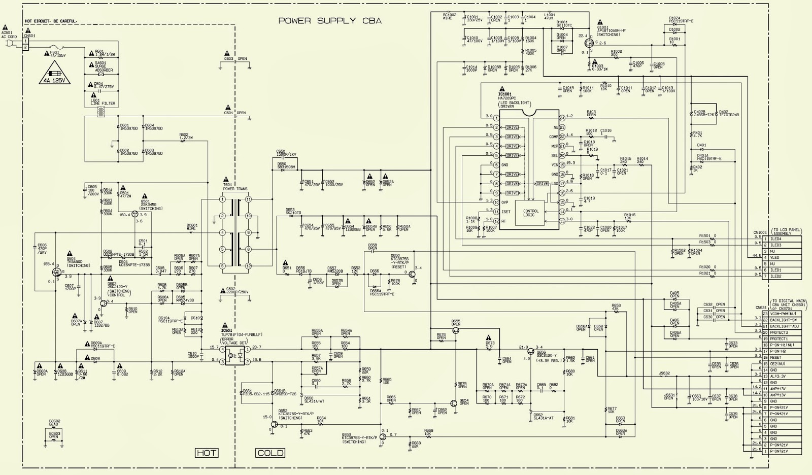 Philips 22pfl4507 22 Lcd Tv Power Supply Schematic Circuit Diagram