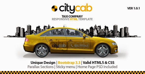 download CityCab - Taxi Company Responsive HTML Templat