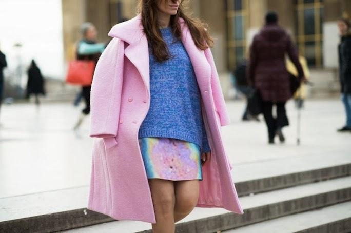 Pastel-Pink Coat-Paris Haute Couture-Street Style