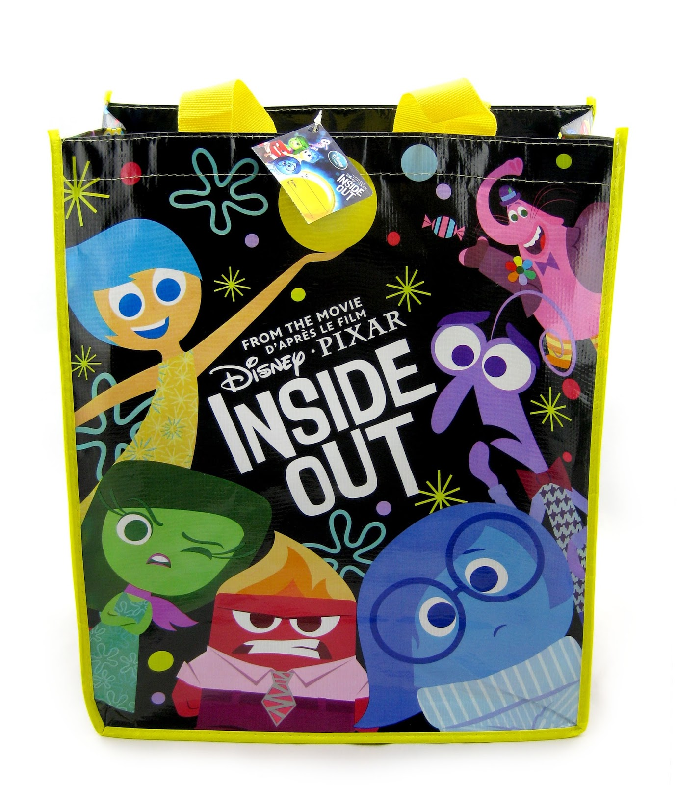 dan the pixar fan inside out disney store reusable tote bag. Black Bedroom Furniture Sets. Home Design Ideas