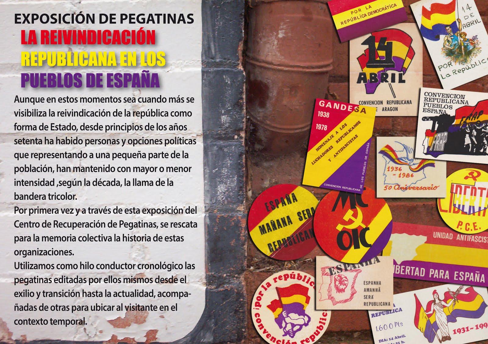 EXPOSICION DE PEGATINAS LA REIVINDICACION DE LA REPUBLICA