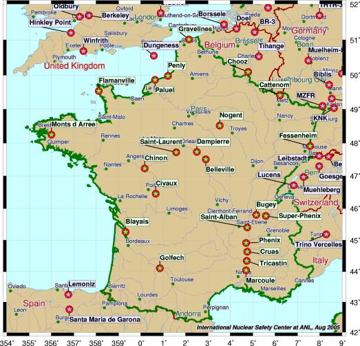 Carte des centrales nucléaires dans le monde - Wikistrike