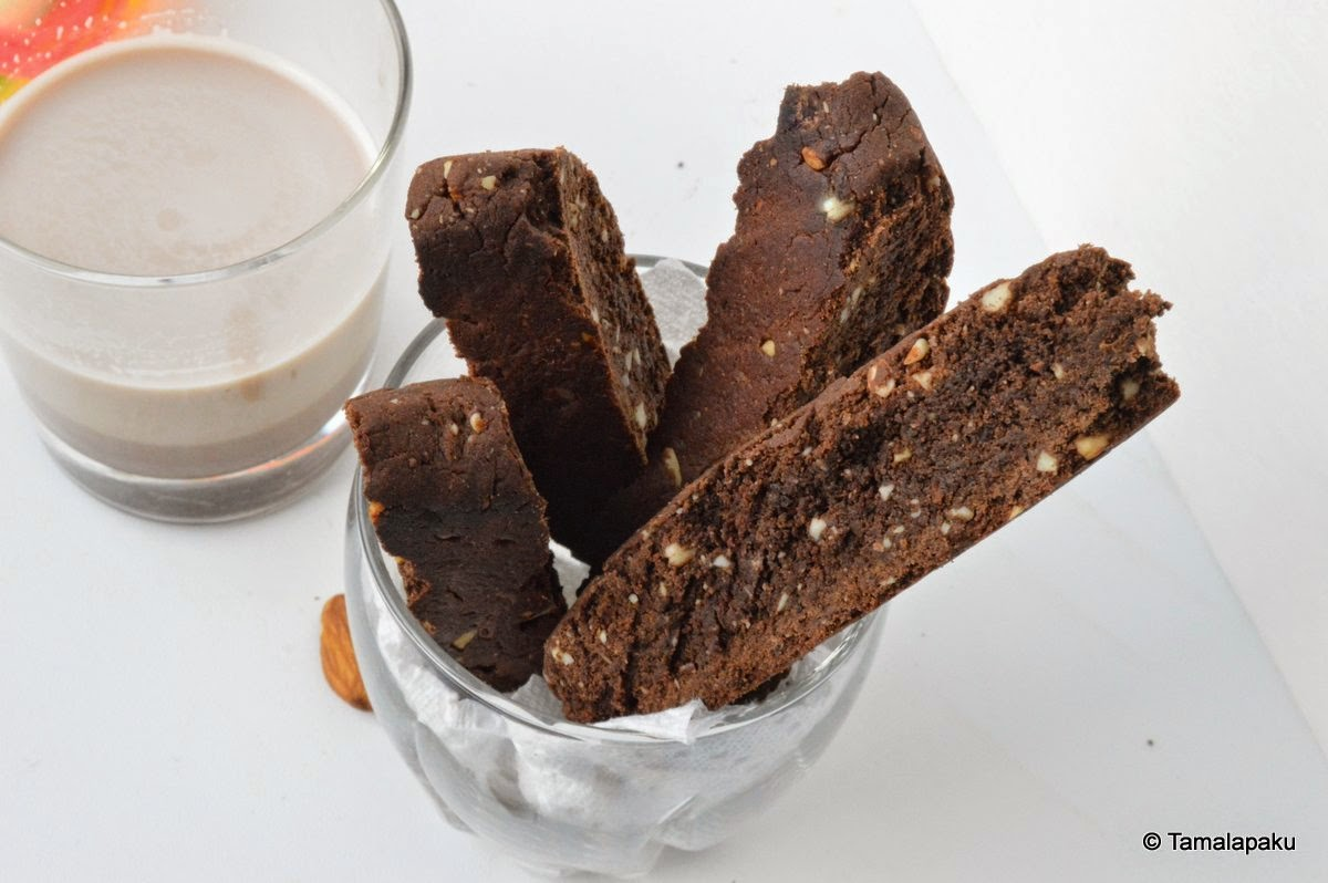 Vegan Chocolate Biscotti