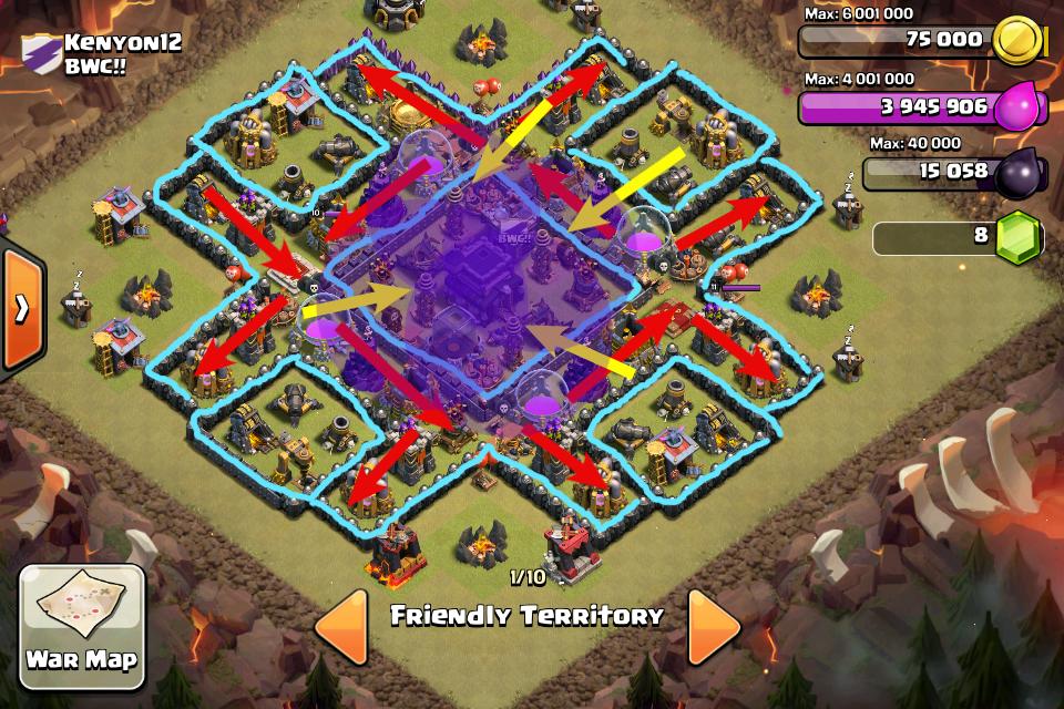 Untuk melihat bagai mana base ini bertahan dari serangan prhatikan