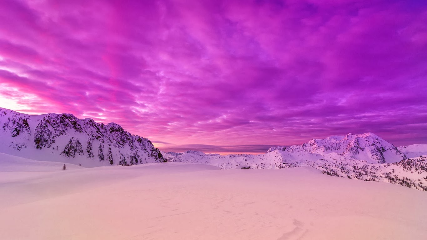 pink snow mountain wallpaper - photo #10