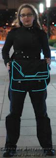 сумка из гибкого (холодного) неона