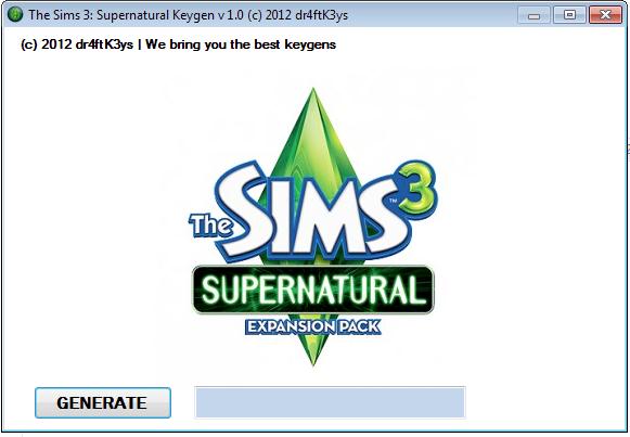 The Sims 3 : Supernatural v1.0 EN/RU NoDVD KeyGen скачать.