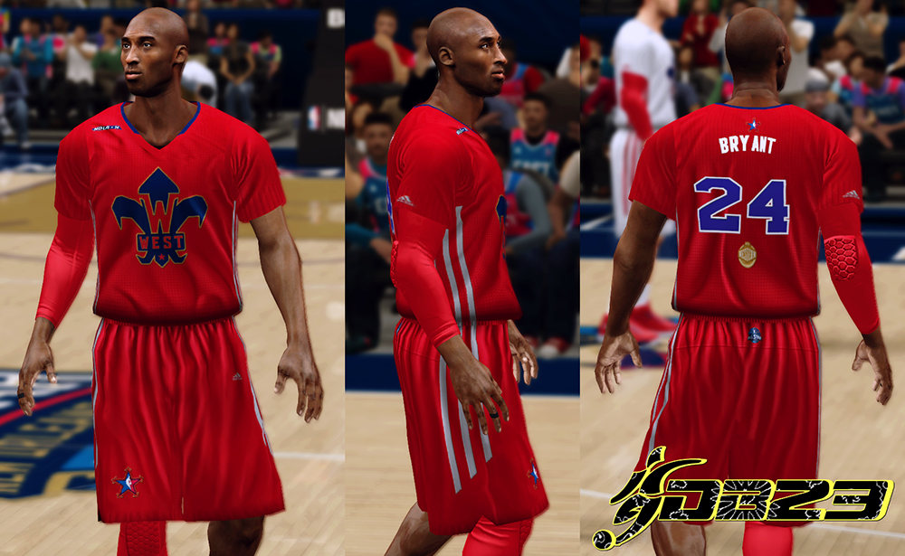 NBA 2K14 West All-Star 2014 Red Sleeved Jersey