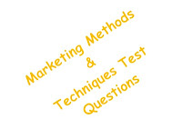 image of marketing methods and techniques test questions