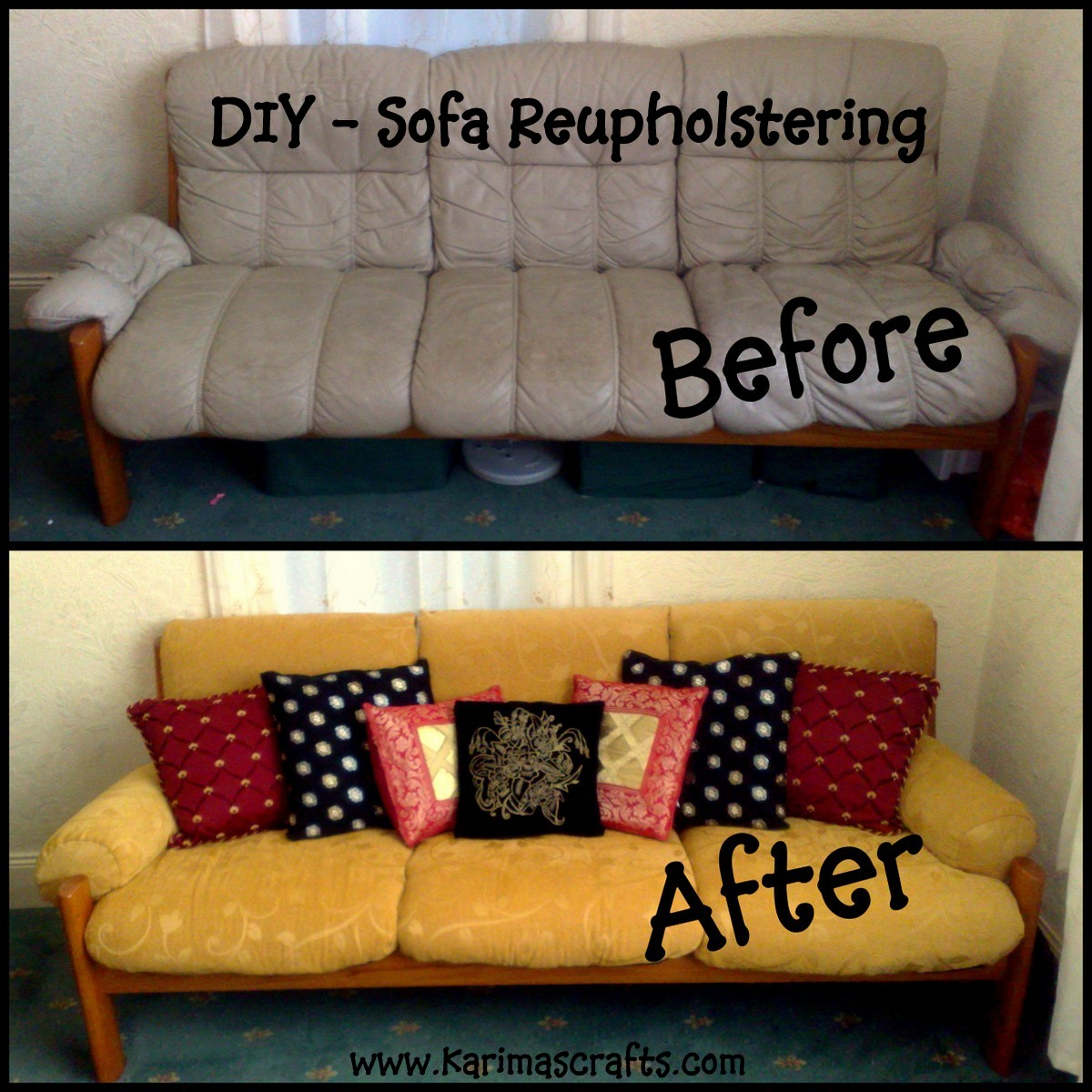 Reupholstering A Sofa   My Mini Tutorial