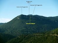 El Puiggraciós i els seus entorns des del Bac de l'Antic