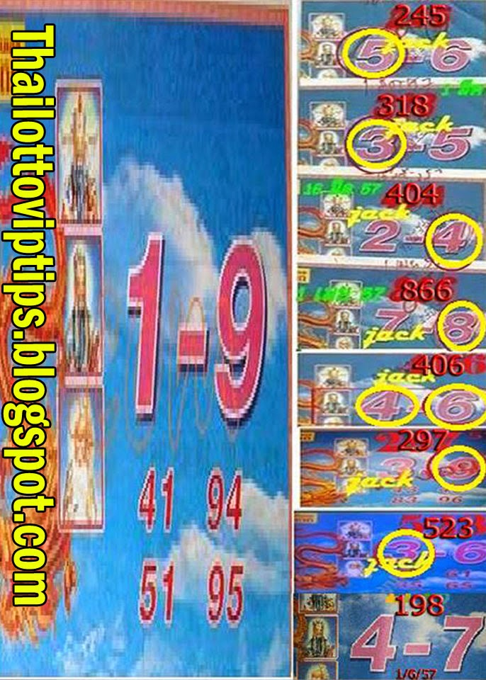 Thai lotto Special Paper 16-06-2014