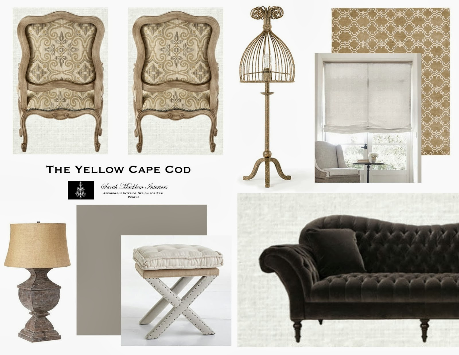The Yellow Cape Cod: Before/After Living Room Makeover~A Design Plan Comes  To Life