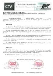 Solicitamos al Delegado Territorial en Cádiz información sobre la realización del reconocimiento mé