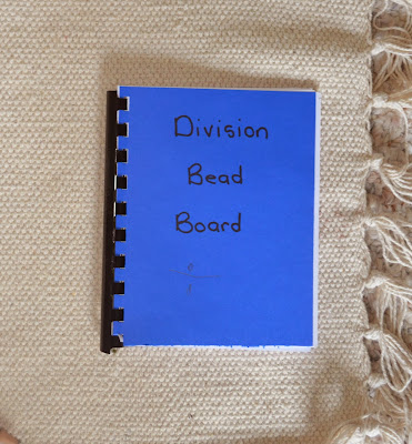 diy booklet for division tables Montessori