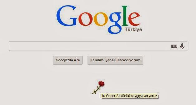 Google 10 Kasım ve Atatürk'ü Unutmadı