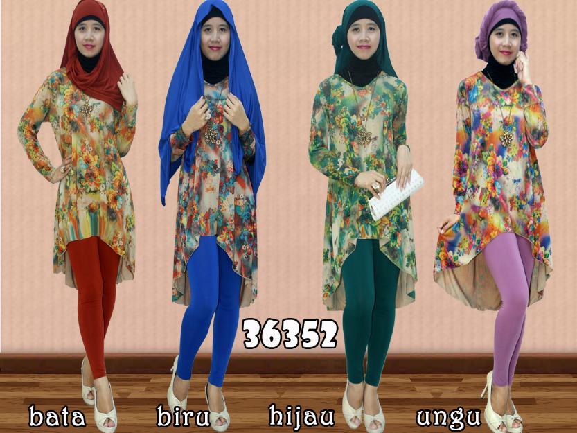 Contoh Desain Baju Muslim Wanita Terbaru Untuk Lebaran