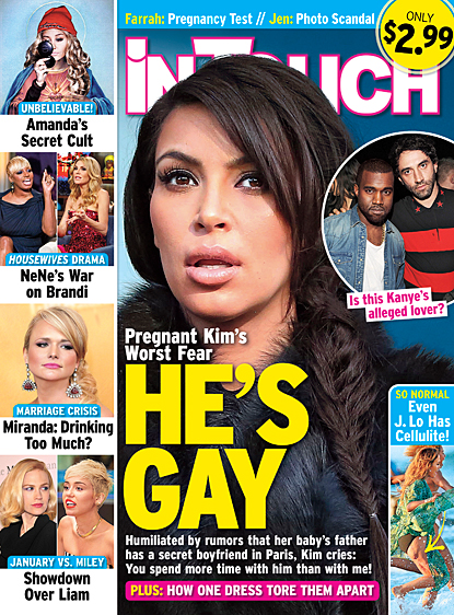 Kim K. Afraid Her Man and the Father of Her Child Might Be GAY!