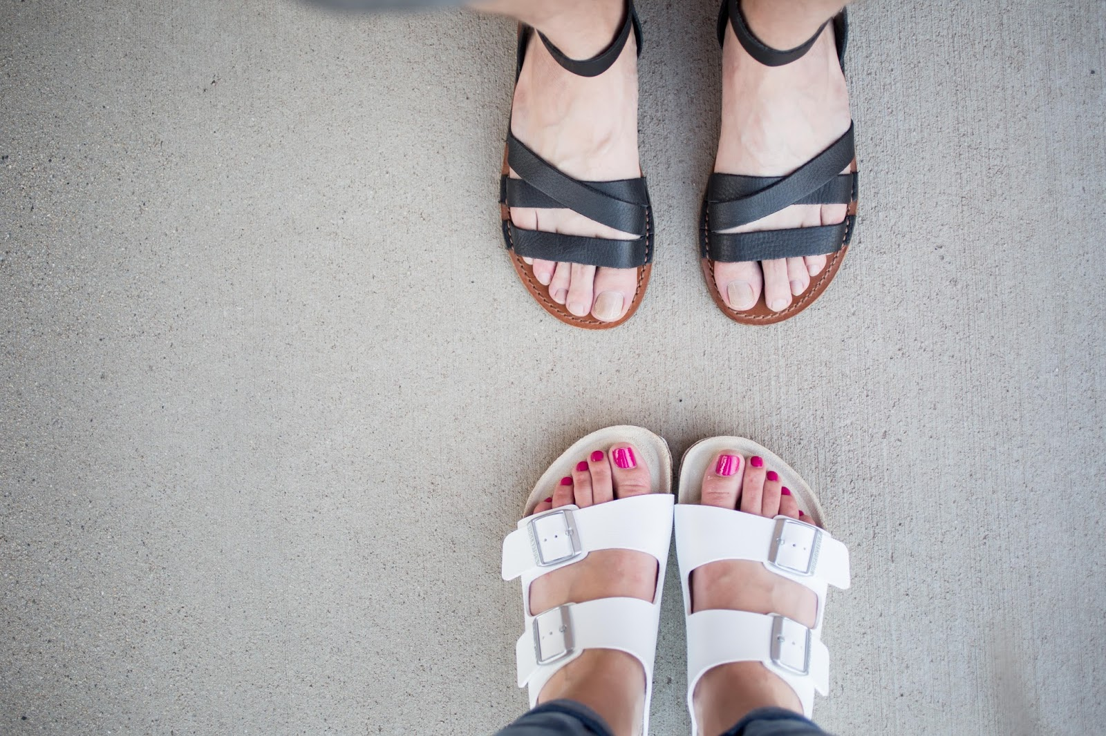 His and Her Sandals
