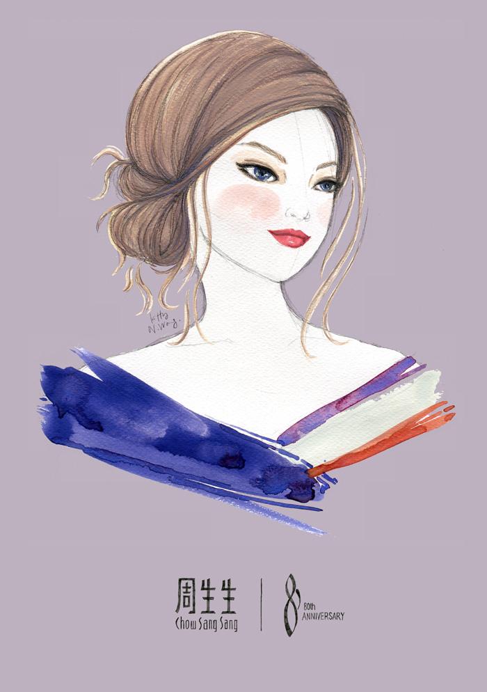 Chow Sang Sang / Kitty N. Wong Fashion Illustration