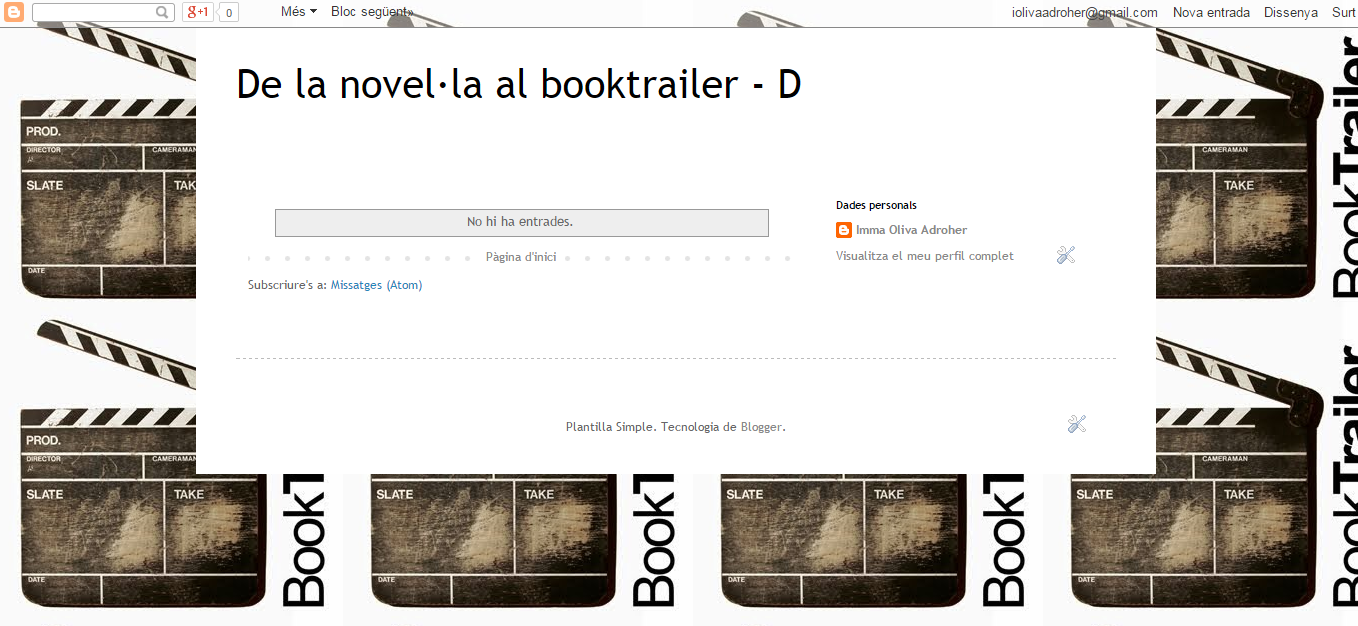 BLOG DE LA NOVEL·LA AL BOOKTRAILER_D curs 15-16