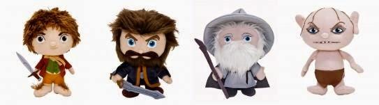 Peluches de el hobbit Bilbo, thorin, Gandalf, Gollum