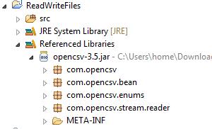 CSVReader (opencsv API)