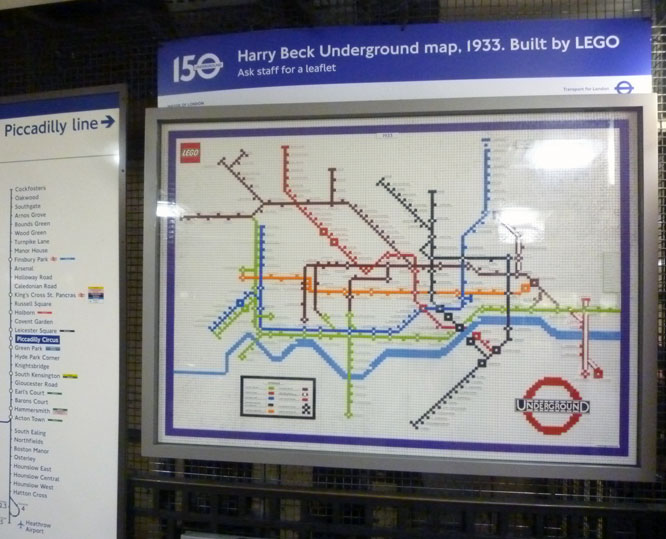 margaretcooter Art on the Underground Piccadilly Circus station