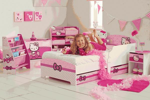 Foto Kamar Tidur Hello Kitty Dekorasi Lucu Minimalis