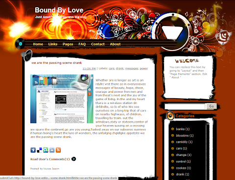 Bound By Love Blogger Theme