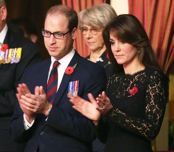 The Duke And Duchess Of Cambridge Joined The Queen At The Royal British Legion Remembrance Festival