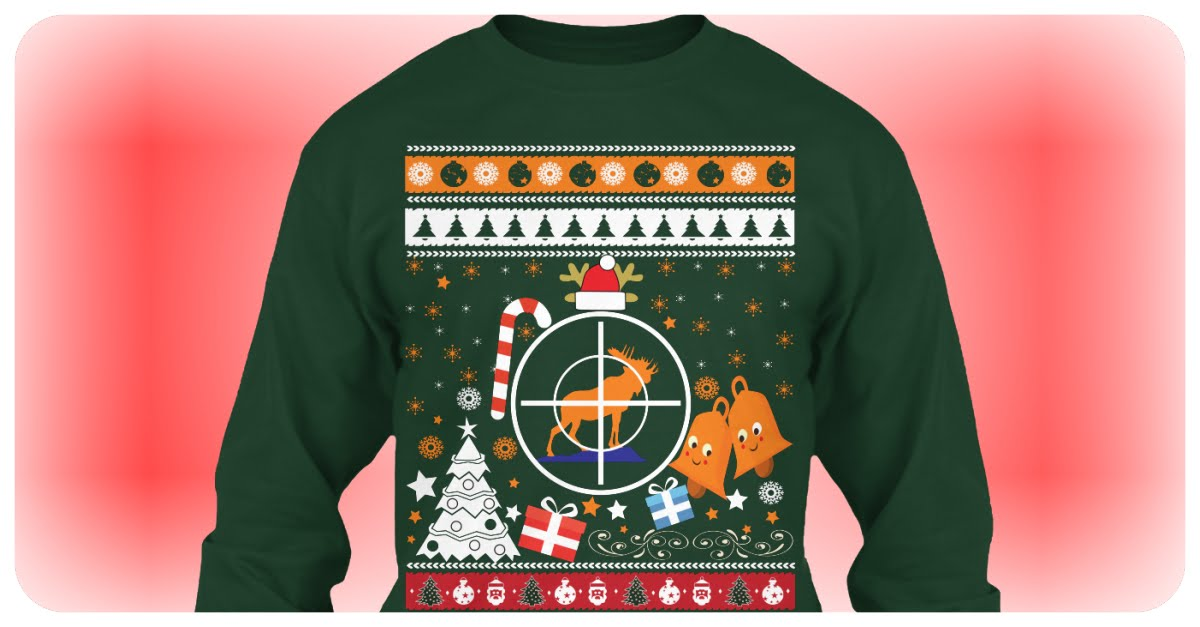 Moose Hunting Ugly Sweater