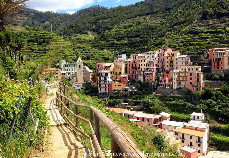 Exploring the hillside paths surrounding Manarola - Cinque Terre, Italy