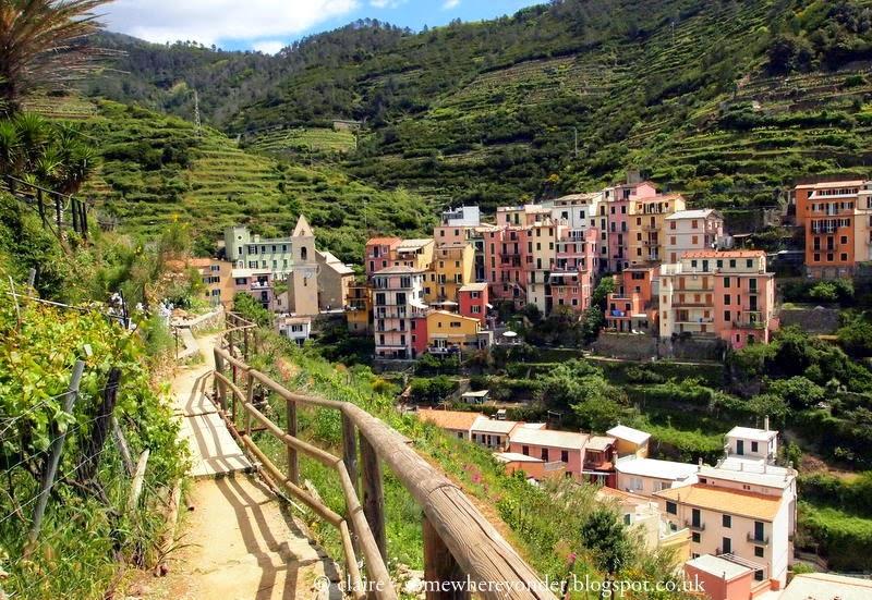 Exploring the hillside paths surrounding Manarola - Cinque Terre, Italy