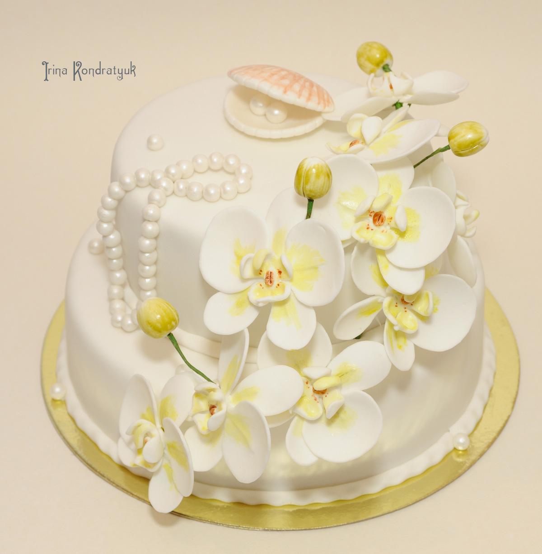 Торт жемчужная свадьба wedding anniversary