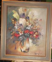"""I.Kalniņš- ''Pīlādži"""", kartons, eļļa, 46x38, 2013., Cena:205Ls"""