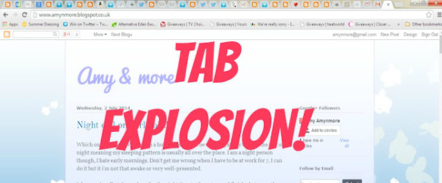 Tab explosion too many tabs twitter chat