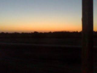 The Sun was setting down and the sky was changing colors