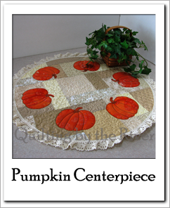 Tutorial for Pumpkin Table Topper at Freemotion by the River