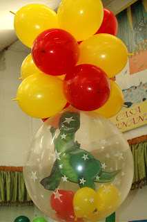 decoración globos toy story