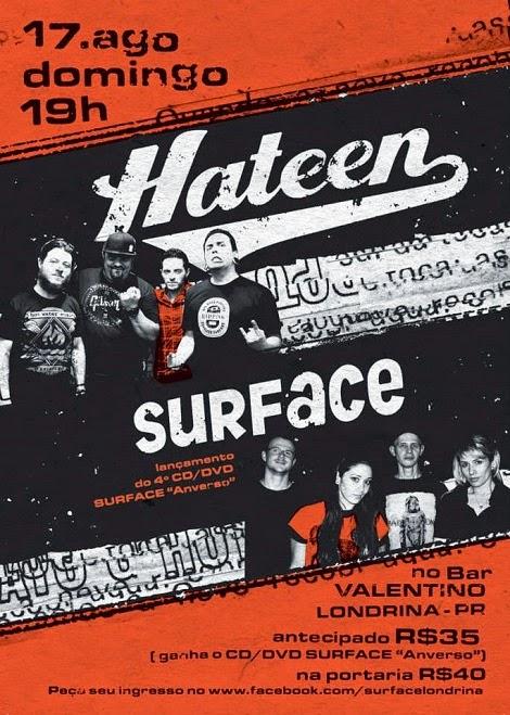 17-08-2014 - HATEEN e SURFACE - Londrina - PR