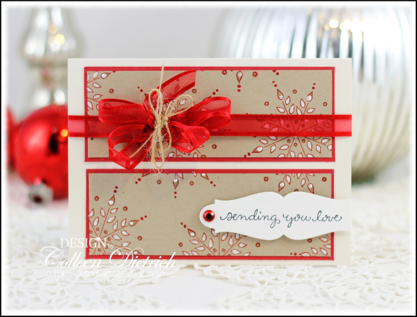 Sending Christmas Love | Colleen Dietrich Designs