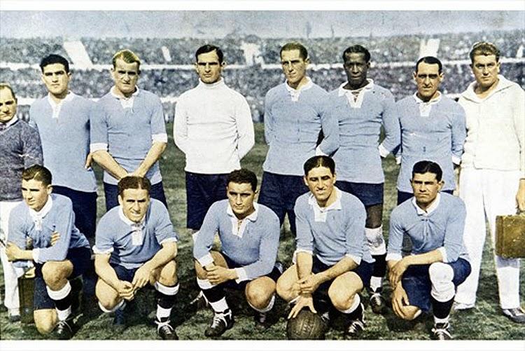 José Leandro Andrade com a seleção uruguaia  Copa do mundo 1930