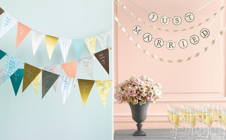 ever after avenue  wedding ideas   diy wedding   flag banners