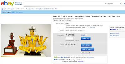 Found on Ebay: Meccano Sheba and Meccano Magician