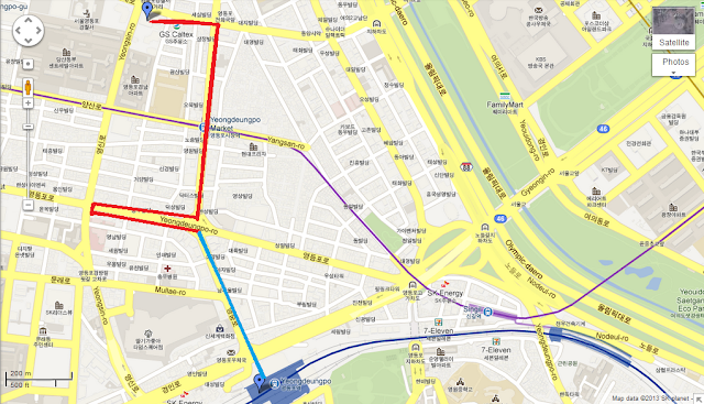 Yeongdeungpo-gu in Google Map