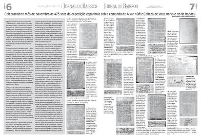 Celebrando os 475 anos da expedição de Álvar Núñez Cabeza de Vaca no vale do rio Itapocu