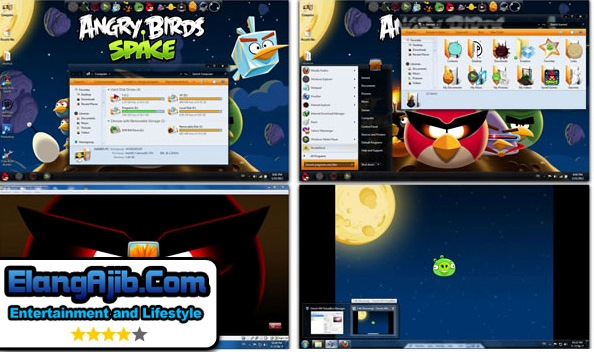 Skin Pack Windows 7 Angry Birds StarWars