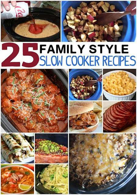 25 Family Crockpot Recipes - So many EASY to make, delicious recipes even kids will love.