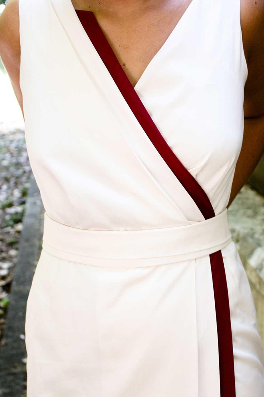 Patrones y Costura: Patrón corte y confección vestido largo drape en ...
